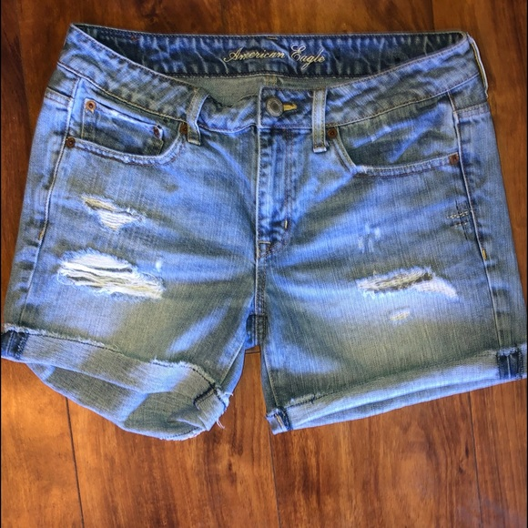 American Eagle Outfitters Pants - AE Distressed midi shorts